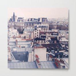 Paris Rooftops Reprise Metal Print