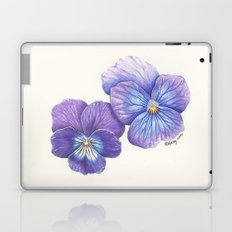 Purple Pansies Laptop & iPad Skin
