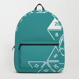 Teal Unrolled D20 Backpack