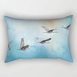 Magic Of Beginnings - Bird Art Rectangular Pillow