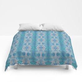 Pattern in Blue, Green & Pink Comforters