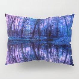 Enchanted Forest Lake Purple Blue Pillow Sham