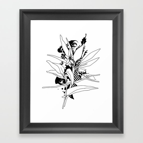 eye & leaf Framed Art Print