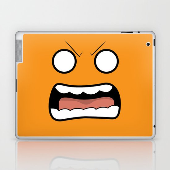 Scary Face Laptop & iPad Skin