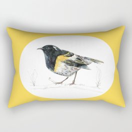Hihi, New Zealand native Stitchbird Rectangular Pillow