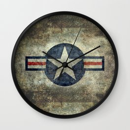 US Airforce style Roundel insignia V2 Wall Clock