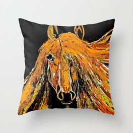 Running Wild and Lookin Pretty in the Fall Throw Pillow