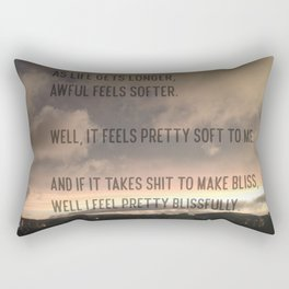 """Modest Mouse Lyric From """"The View"""" Rectangular Pillow"""