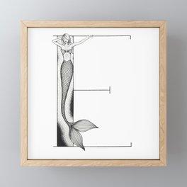 Mermaid Alphabet - E Framed Mini Art Print