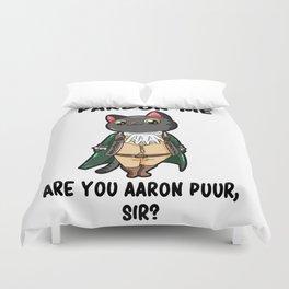 Aaron Purr Alexander Parody Broadway Musical Duvet Cover