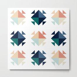 blocky Metal Print