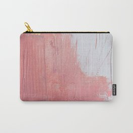 Melody: a pretty minimal abstract painting in gold pink and white by Alyssa Hamilton Art Carry-All Pouch