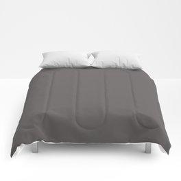 Solid Dark Carbon Gray Color Comforters