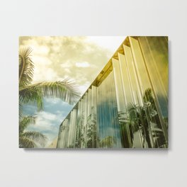 Beverly Hills - Palm Reflections II Metal Print