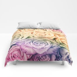 Some people grumble - Colorful Roses - Rose pattern Comforters