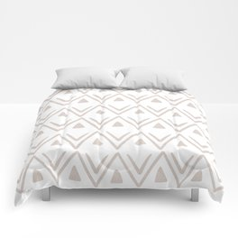 Etched Zig Zag Pattern in Tan Comforters