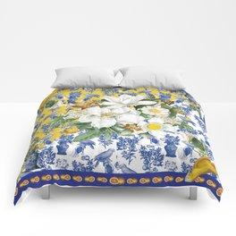 Herme inspired delft garden Comforters