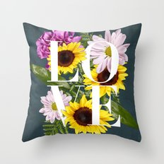 Love in Flowers Throw Pillow