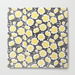 Limnanthes flower pattern Metal Print