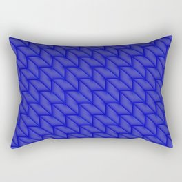 Tiled pattern of dark blue rhombuses and triangles in a zigzag. Rectangular Pillow