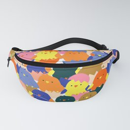 Colored Baby Chickens pattern Fanny Pack