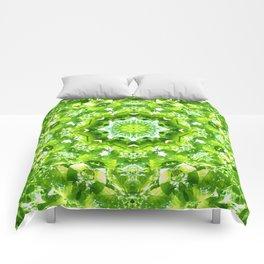 GREEN LEAVES MANDALA Comforters