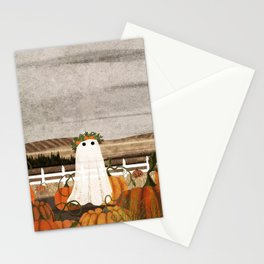 There's a Ghost in the Pumpkins Patch Again... Stationery Cards