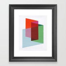 Folds Framed Art Print