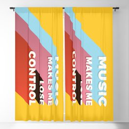 MUSIC MAKES ME - TYPOGRAPHY Blackout Curtain