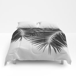 Palm Leaf Black & White II Comforters