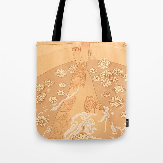 Flower Bath 10 (censored version) Tote Bag