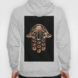 Golden Hamsa Hand On A Black Background #decor #society6 Hoody