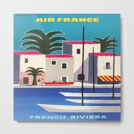 Vintage poster - French Riviera Metal Print