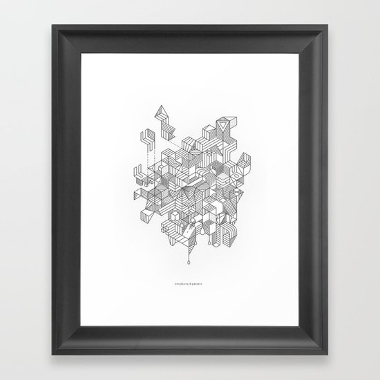Simplexity Framed Art Print