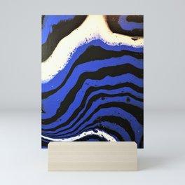 Zebra wears blue. Abstract Acrylic Animal prints Mini Art Print