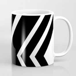 Black and White Geometric Abstract Coffee Mug