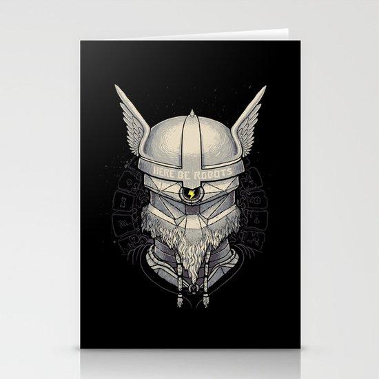 Viking robot Stationery Cards