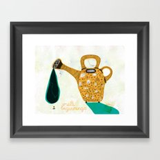 Don't forget the small beginnings Framed Art Print
