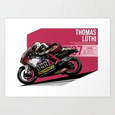 Thomas Luthi - 2007 Losail Art Print