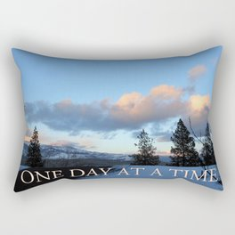 One Day at a Time Rooftop, Hills, and Trees Rectangular Pillow