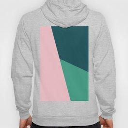 Geometric design in pink & green Hoody