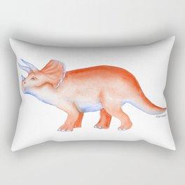 Triceratops Dinosaur Watercolor Painting Rectangular Pillow