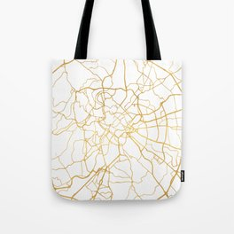 ROME ITALY CITY STREET MAP ART Tote Bag