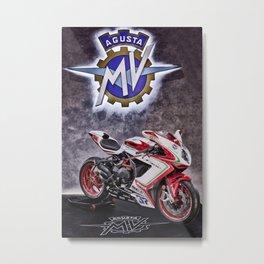 MV AGUSTA F3 800 RC Metal Print