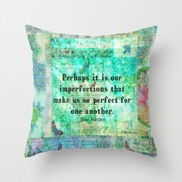 Jane Austen witty LOVE quote Throw Pillow