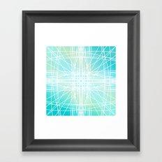 Linear Oceanblast Framed Art Print