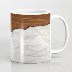 Wooden Crumbled Paper Mug
