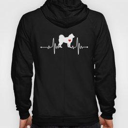 Alaskan Malamute dog heartbeat Hoody