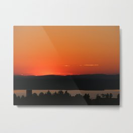 Beneath the Amber Metal Print