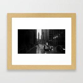 Toronto In The Rain Framed Art Print